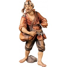 Herdsman with water bag (without base) 12 cm Serie Colored maple