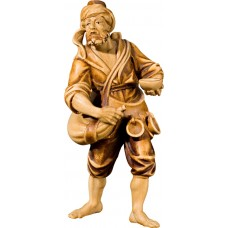 Herdsman with water bag (without base) 27 cm Serie Stained+tones maple