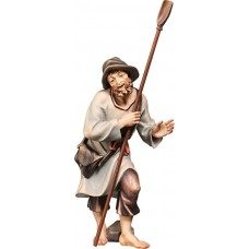 Herdsman with shovel (without base) 12 cm Serie Colored maple