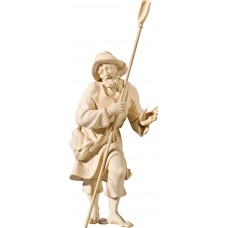 Herdsman with shovel (without base) 40 cm Serie Natural maple