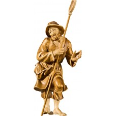 Herdsman with shovel (without base) 40 cm Serie Stained+tones maple