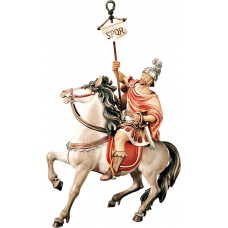 Roman captain on horse (without base) 12 cm Serie Colored maple