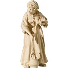 Herdswoman at the well 40 cm Serie Natural maple