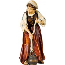 Herdswoman at the well 40 cm Serie Real Gold new