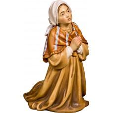 Herdswoman praying 12 cm Serie Colored maple