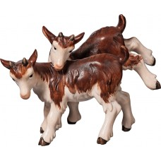 Goat kid group 10 cm Serie Colored maple