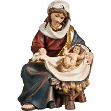 Mary sitting with Jesus Child 27 cm Serie Real Gold new