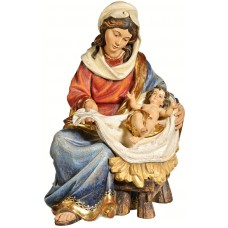 Mary sitting with Jesus Child 40 cm Serie Real Gold antique