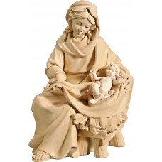 Mary sitting with Jesus Child 50 cm Serie Natural linden