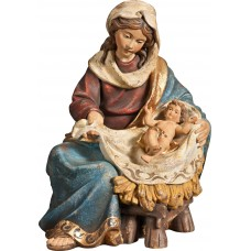 Mary sitting with Jesus Child 27 cm Serie Antique