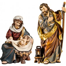 Holy Family Mary sitting with Jesus Child 27 cm Serie Real Gold new
