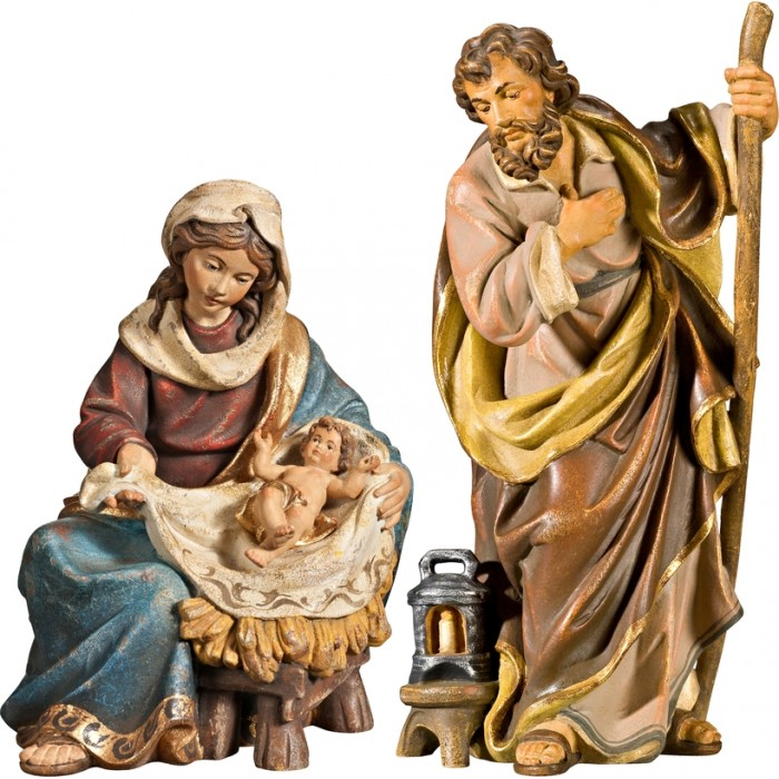 Holy Family Mary sitting with Jesus Child 50 cm Serie Antique