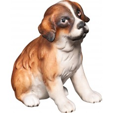 Saint Bernard puppy 12 cm Serie [2,5x2,5cm] Colored maple