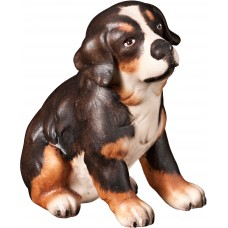 Bernese mountain dog puppy 12 cm Serie [2,5x2,5cm] Colored maple