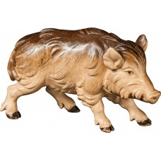 Wild boar sow 27 cm Serie [12x7,5cm] Stained+tones maple