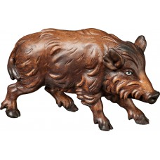 Wild boar sow 12 cm Serie [6x3,5cm] Colored maple